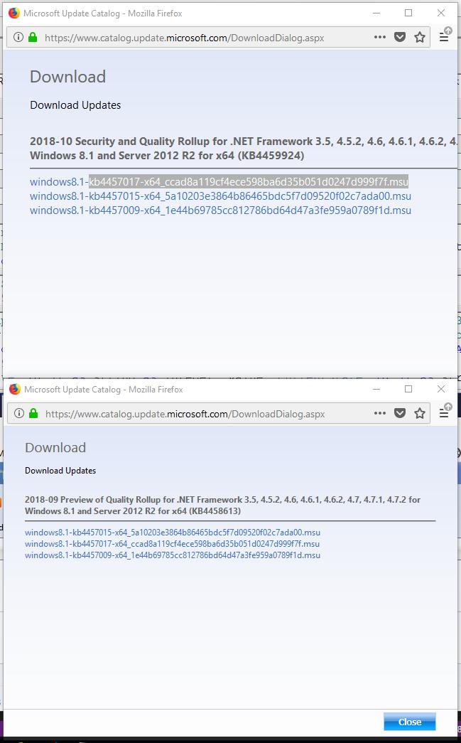 net framework 3.5 and 4.7 2 for windows 10 64 bit