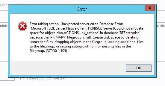 BigFix Error
