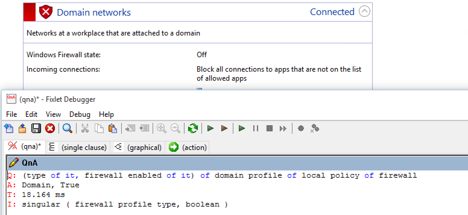 firewall enabled of <firewall profile>