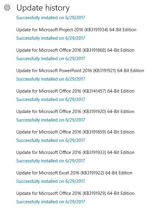 Windows 10 - BigFix Patching Out of Sync with Windows Update