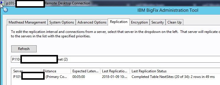 DSA Replication Failures - Usage and Config - BigFix Forum