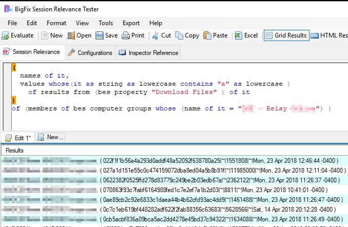 Installed Software report via Rest API - Reporting - BigFix